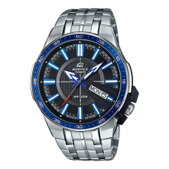 Casio Edifice Tachymeter Chronograph White Dial Men's Watch: EF-546D-7AVUDF