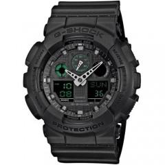 Casio G-Shock Analogue/Digital Mens Black Big Case Military Watch: GA-100MB-1ADR