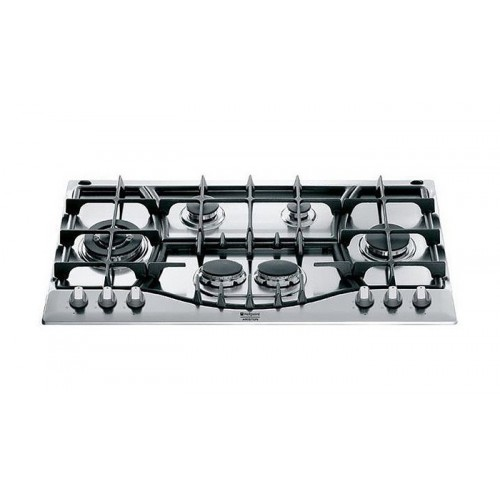 Ariston Built-In Gas Hob 90cm 6 Burners Cast Iron Stainless Steel: PHN 961 TS/IX/A