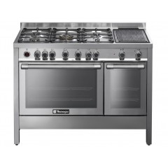 Tecnogas 120*60 cm 5 Burners and Grill Side Full Safety Cast Iron Timer Digital Stainless : N1X12GM5VC