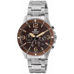 CASIO Edifice Analog Brown Dial Men's Watch: EFR-553D-5BVUDF