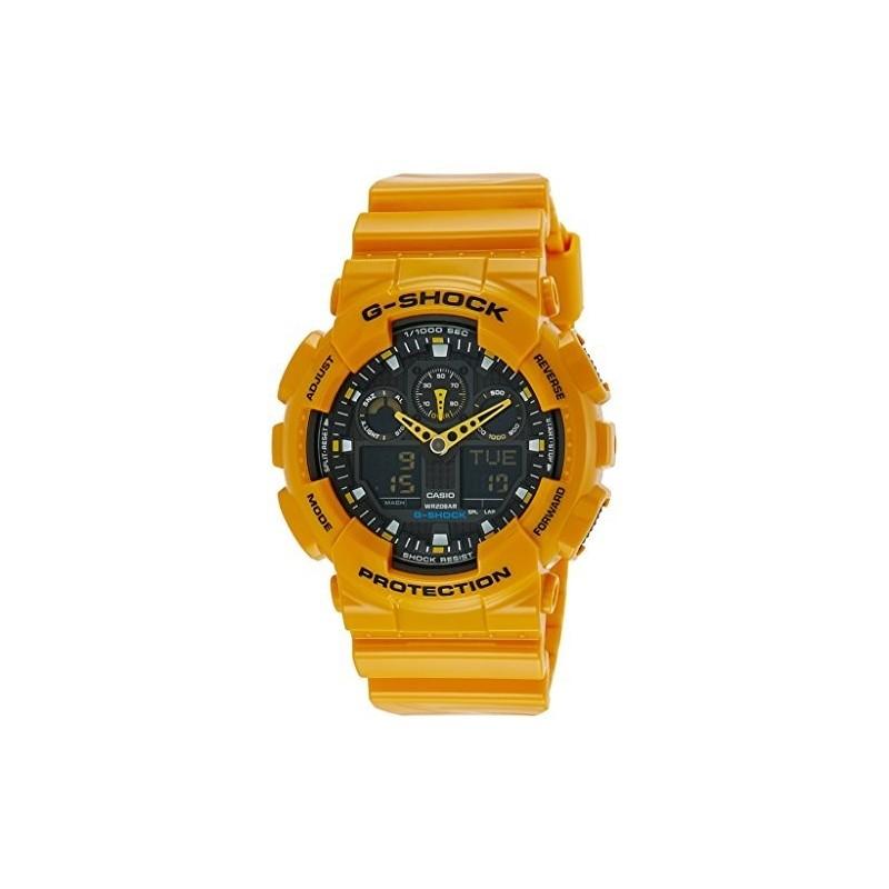 Casio G Shock Men S Watch Waterproof Yellow Ga 100a 9adr