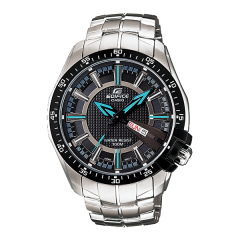 Casio Men's Black Dial Stainless Steel Band Watch: EF-130D-1A2VUDF