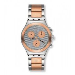 Swatch Women's Irony Analog Display Swiss Quartz Two Tone Watch: YCS581G