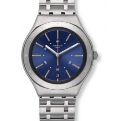 Swatch DIRIGENT Women's Watch Blue Dial Non-Numeric Stainless Steel: YGS472G