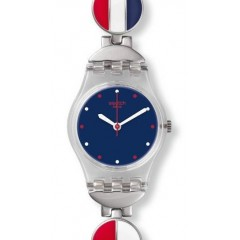 Swatch MARINETTE Women's Watch Dark Blue Dial Colored Stainless Strap : LK344G