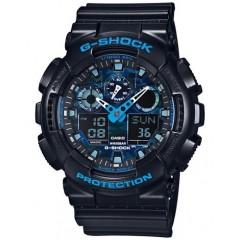 Casio G-Shock GA100-1A2 Ana-Digi Speed Indicator Black Dial Men's Watch: GA-100-1A2DR