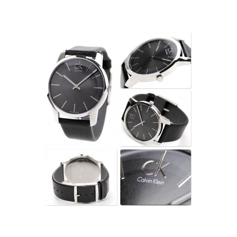 348c7fe75 ... CALVIN KLEIN Watch Men's Swiss City Black Leather Strap: K2G21107