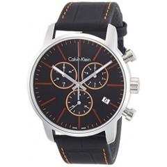 CALVIN KLEIN City Black Dial Men's Chronograph Watch: K2G271C1