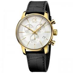 CALVIN KLEIN City Silver Dial Men's Chronograph Watch: K2G275C6