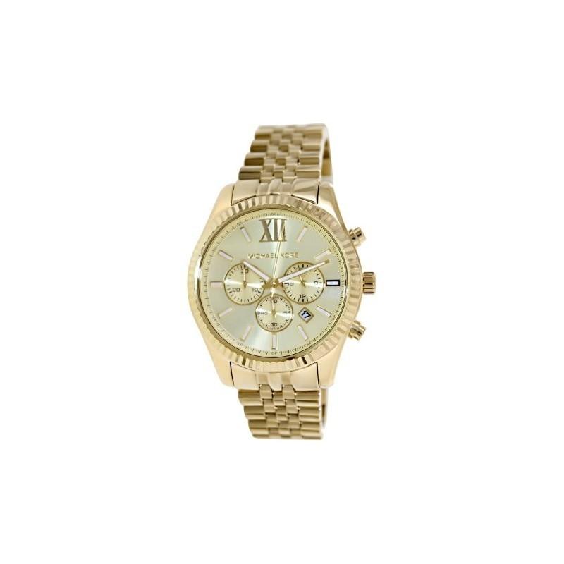 74ee453e504a MICHAEL KORS Lexington Chronograph Champagne Dial Men s Watch  MK8281 ...