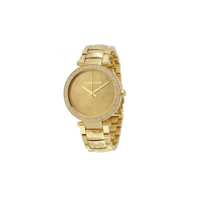 Michael kors parker mother of pearl dial ladies watch gold for Michaels craft store watches