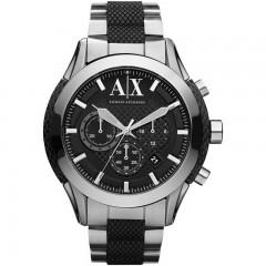 ARMANI EXCHANGE Stainless Steel Men's Watch Black Enamle Silver Bracelet: AX2320