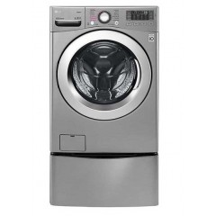 LG Twin Wash 18Kg With Dryer10Kg Steam 1000 rpm Stainless Steel + 3.5 Lower Twin Washer: F0K2CHK2T2