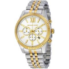 MICHAEL KORS Lexington Chronograph White Dial Men's Watch: MK8344