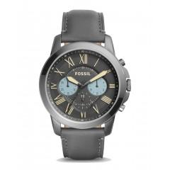 فوسيل جرانت ميتال ساعة للرجال كرونوغراف مينا سوداء FS5183