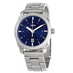 فوسيل ماشين ساعة للرجال استانلس ستيل مينا زرقاء FS5340