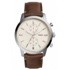 فوسيل تاونس مان ساعة كرونوغراف للرجال سوار كريمى FS5350