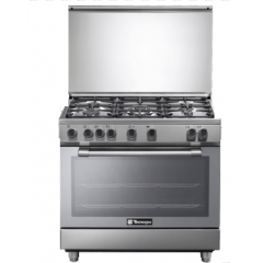 Tecnogas Cooker 60*90 cm Free Stand 5 Burners With Fan Stainless: N3X96G5VC