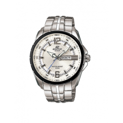 CASIO Men's Edifice Stainless-Steel Quartz Watch with Silver Dial: EF131D-7AV