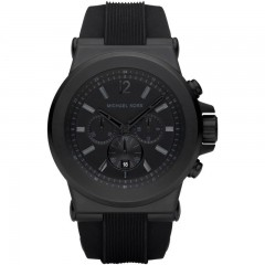 FOSSIL MICHAEL KORS Chronograph Blacked Out Black Bracelet Men's Watch: MK8152