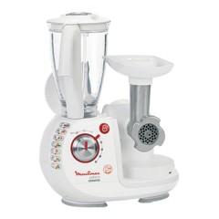 Moulinex Food Processor Odacio - Blender, MM, JE, CP, Chopper, 4 Discs FP7371BM