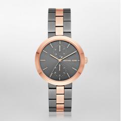 FOSSIL MICHAEL KORS Chronograph Gray*Gold Bracelet Gray Dial Women's Watch: MK6431