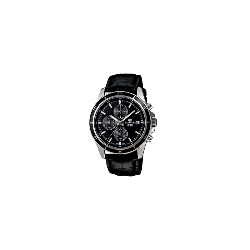 9002b83975d2 CASIO Edifice Chronograph Black Leather Band Men s Watch  EFR-526L-1AVUDF