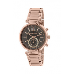 Michael Kors Sawyer Grey Dial Rose Gold-plated Ladies Watch: MK6226