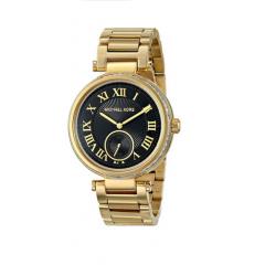 MICHAEL KORS Skylar Black Dial Gold-tone Ladies Watch: MK5989
