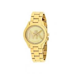 MICHAEL KORS Mini Slim Runway Ladies Gold Tone Watch: MK3477