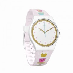 SWATCH Girl Watch Rose Band Water Resistance: GN252