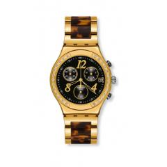 SWATCH Dreamnight 14 Golden Chronograph Ladies Watch: YCG405GC