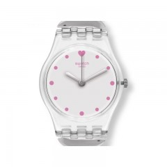 SWATCH Women's Gamme De Coeur Silver Dial Stainless Steel Watch: LK362G