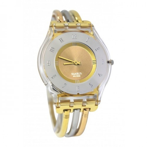 SWATCH Skin Classic Tri-colored Stainless Steel Ladies Watch: LK375G