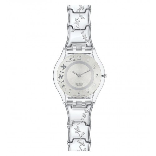 SWATCH Women's Stainless Steel Watch Silver Band: SFK300G