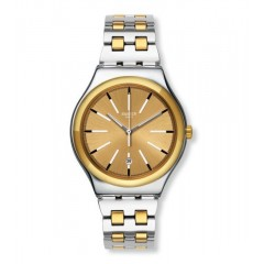 SWATCH TICO-TOCO Men's Watch Stainless Steel Gold Dial: YWS421G