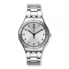 SWATCH ZIO ARGENTO Men's Watch Stainless Steel Silver Dial: YWS100G