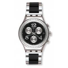 SWATCH SECRET THOUGHT BLACK Dial Chronograph Watch: YCS551G