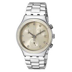 SWATCH CLASSY SHINE Chronograph Women's Watch Stainless Steel: YCS551G