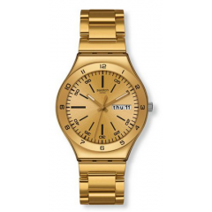 SWATCH Men's Stainless Steel Gold Tone Dial Watch: YGG706G