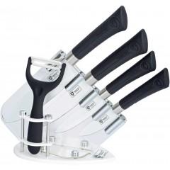 Royaltyline 5 Pcs Ceramic Coating Knife Set: RL-CW5STB