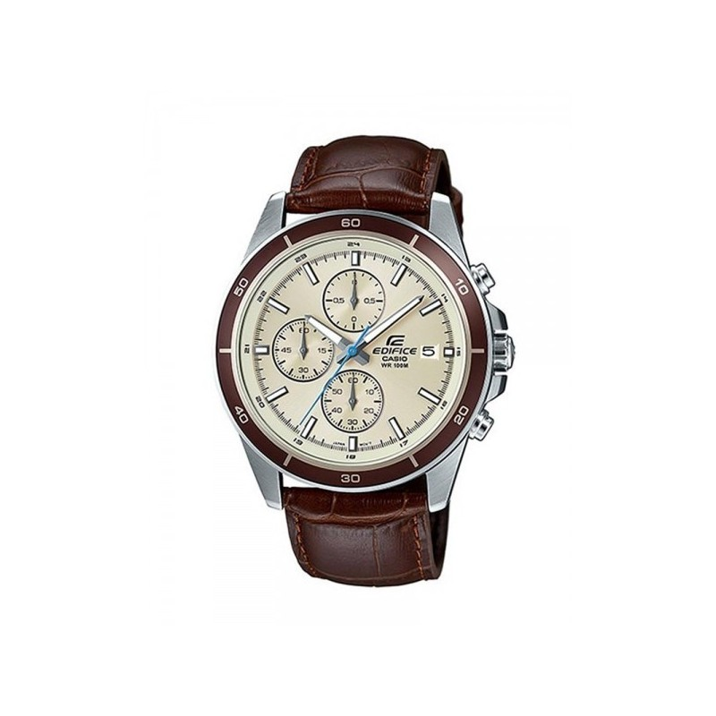 aebf01114974 CASIO Edifice Chronograph Brown Leather Band Men s Watch  EFR-526L-7BVUDF