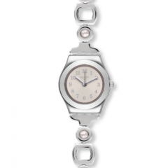 SWATCH PERLESSE Stainless Steel Ladies Watch Silver Color: YSS303G