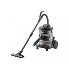 HITACHI Pail Can Vacuum Cleaner 2200 watt Black x Gold with Telescopic Pipe: CV-980D
