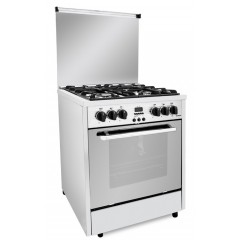 Fresh Gas Cooker 4 Burners 65x60 cm Safety With Fan Stainless: PROFESSIONAL CONTROL 65*60