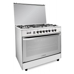 FRESH Gas Cooker 5 Burners 80x55 cm Safety With Fan Stainless: Hummer 80*55