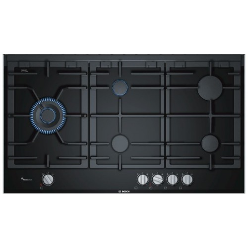 bosch gas hob 5 burners 90 cm ceramic black prs9a6d70 cairo sales stores. Black Bedroom Furniture Sets. Home Design Ideas