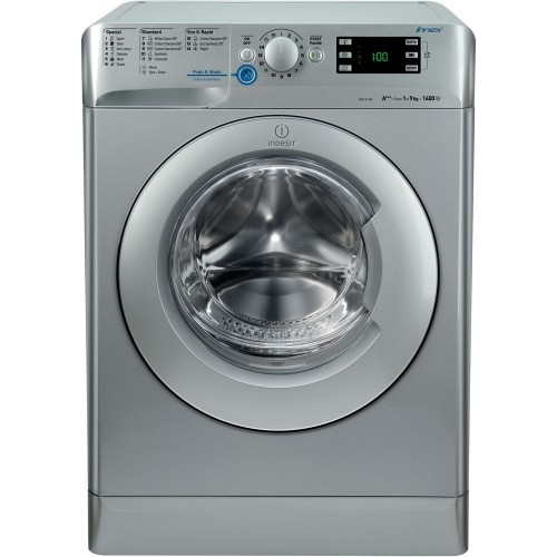 Indesit Washing Machine 9 kg Silver Color 1400 RPM: XWE 91483X S EU