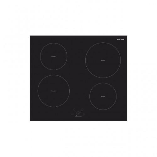Glem Gas 4 Electric Burners 60cm Touch Controls Glass Black: GTI642